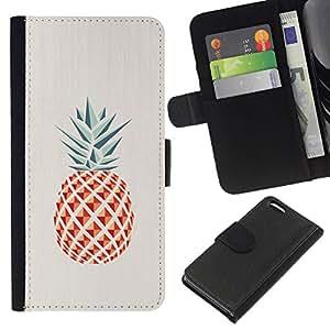 All Phone Most Case / Oferta Especial Cáscara Funda de cuero Monedero Cubierta de proteccion Caso / Wallet Case for Apple Iphone 5C // Pineapple Polygon Minimalist Weed
