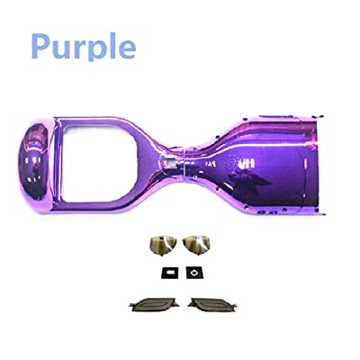 YAVOCOS Purple 6.5 inch Chrome Outer Plastic Cover Case Shell Replacement Smart Self Balance Wheel Balancing Electric Scooter Spare Parts : Sports & Outdoors [5Bkhe0403787]