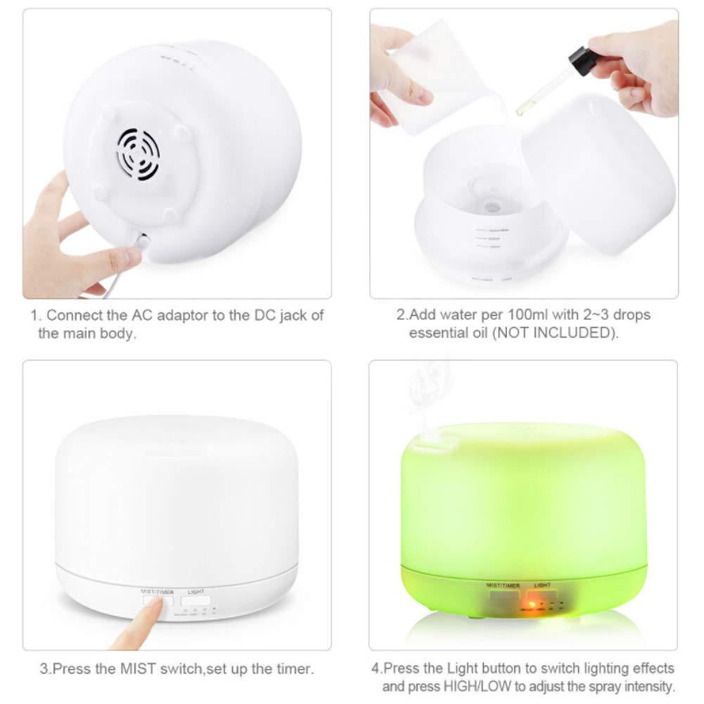 Amazon.com: Leoie 300 ML Aceite esencial Difusores Humidificadores Difusores s de aromaterapia Humidificadores de Vapor fr\u00edo EU: Home & Kitchen