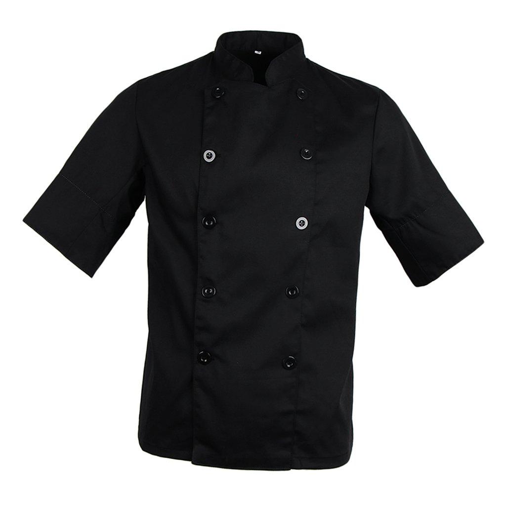 P Prettyia Camice da Cuoco, T-shirt da Chef, Abbigliamento da Lavoro, Donna Uomo