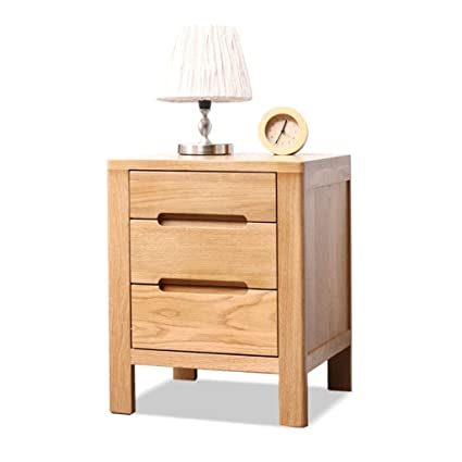 cheap for discount 3bf7a f0b3d Amazon.com: Furniture Nightstands Solid Wood Bedside Table ...