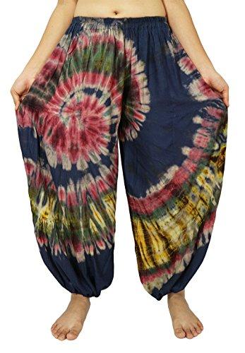 Party City Costumes 60 Off (Lek Boutigue Women's Plus size loose Harem Aladdin Yoga Pants (00 Blue))