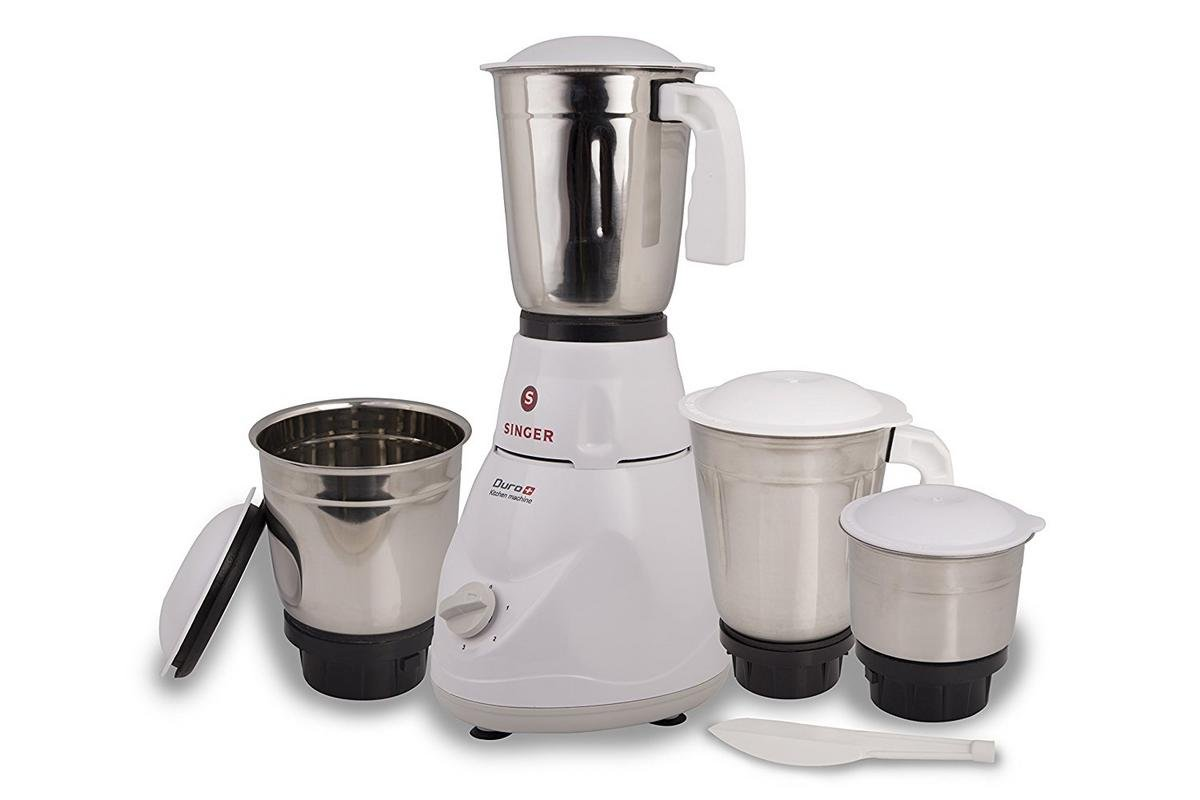 Buy Singer Duro Plus Smg 503 Dgt 500 Watt Mixer Grinder With 3 Jars Heater Wiring Diagram White Online At Low Prices In India