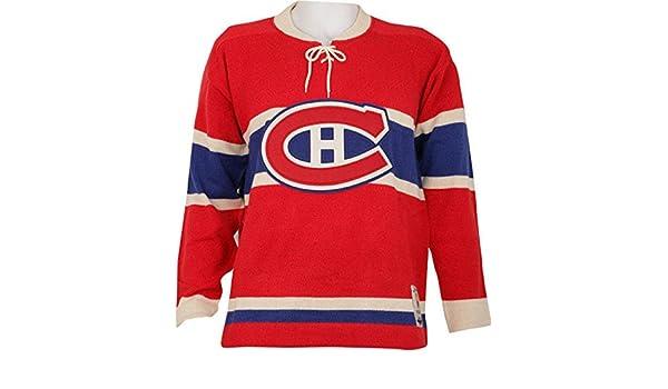 NHL Reebok Montreal Canadiens CCM NHL 1955-56 Classic Heritage Knit Sweater  (Medium)  Amazon.ca  Sports   Outdoors 098f65ead