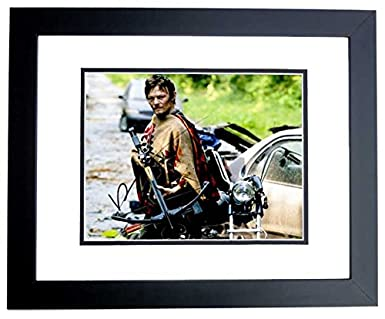 Norman Reedus Signed Autographed The Walking Dead 8x10 Photo Black