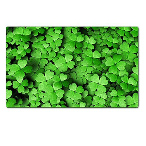 Luxlady Natural Rubber Large TableMat Image ID 25409067 top view of a expanse four leaf clovers different height and dimensions Expan Background Holder