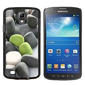 LECELL--Funda protectora / Cubierta / Piel For Samsung Galaxy S4 Active i9295 -- Significado de color verde oscuro Gris Beach --