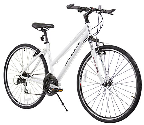 Best Price of XDS Women's Cross 300 24-Speed Step-Through Hybrid Bicycle, 44cm, White