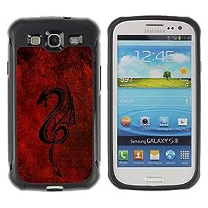 "Hypernova Defender Series TPU protection Cas Case Coque pour Samsung Galaxy S3 III I9300 [Dragón tribal rojo""]"