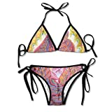 Most Fashion Maker Ladies Religious African Ameican Lovers Art Printing Summer Sexy Two Pieces Swimsuit