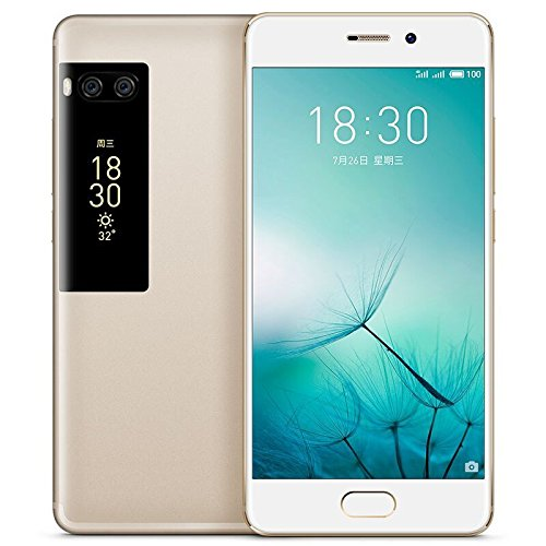 Meizu Pro 7 Unlocked 4G LTE Smartphone Deca Core 4GB RAM 128GB ROM 5.2'' 1080P Super AMOLED Two-sided Screen Dual Rear 12.0MP Camera Fast Charge Cell Phone (Gold) by Meizu
