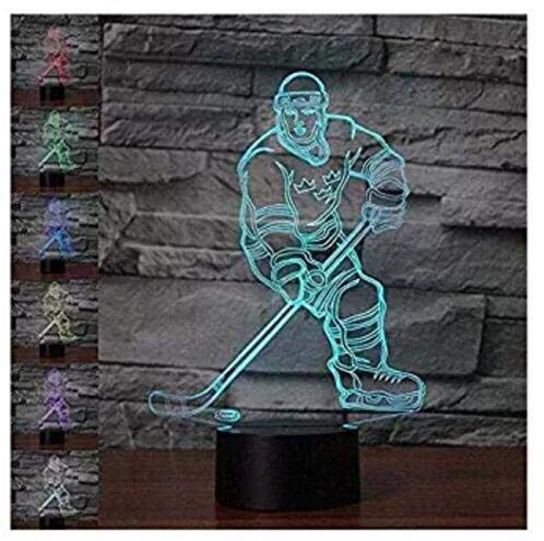 3D New Ice Hockey Athlete Night Light Touch Table Desk Optical Illusion Lamps 7 Color Changing Lights Home Decoration Xmas Birthday Gift]()