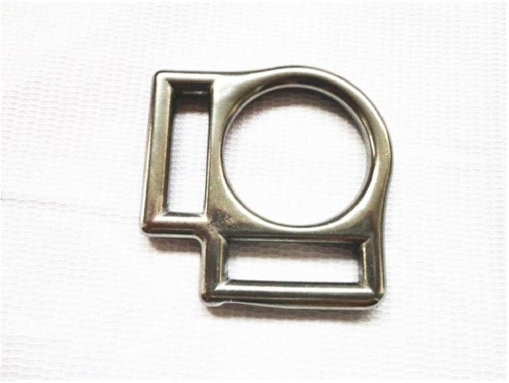 ZANGAO Acero Inoxidable del Cuadrado del Caballo Cabestro 20 Piezas por Lote Hebilla con 2 Ranuras Interior Ancho 2 cm (Color : 26mm)