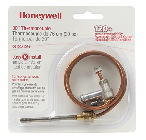 Honeywell CQ100A1039/U CQ100A1039 Replacement Thermocouple for Gas Furnaces, Boilers and Water Heaters 30-Inch