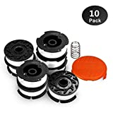 "Line String Trimmer Replacement Spool,30ft 0.065"" for Black+Decker String Trimmers, Replacement Auto Feed Spool,Compatible with Black & Decker AF-100 (8 Spool+1cap+1 Spring)"