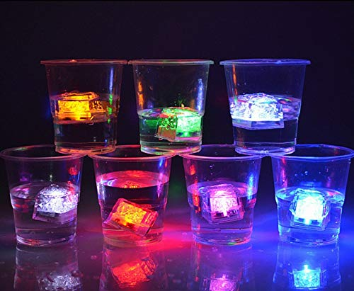 (12 Piece) LED Ice Cubes Multi Color Changing/Water Activated!!