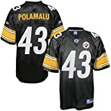 Reebok Pittsburgh Steelers Troy Polamalu Replica Jersey Large
