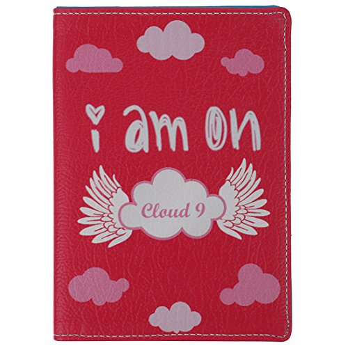 Thathing PU Leather Cloud 9 Pink Passport Wallet