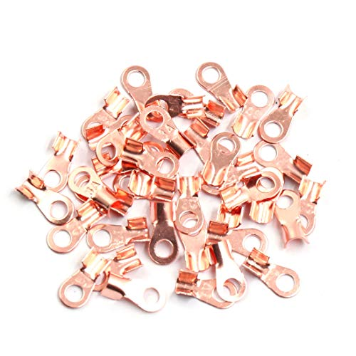 Sourcingmap 30pcs 3A Copper Ring Terminals Lug Battery Cable Connector:
