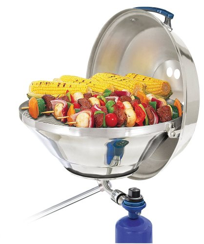 - Magma Products, A10-215 Marine Kettle Gas Grill with Hinged Lid, Party Size