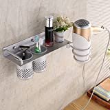 OLQMY-Bathroom Rack, Oxidation Treatment Space Aluminum Dryer Frame, Multi-Function Hairdryer Frame