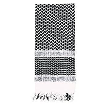 SHEMAGH TACTICAL DESERT SCARF (Black/White)