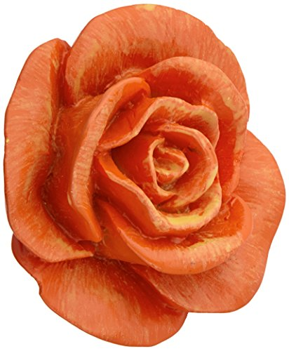 Siro Designs SD101-100 Rose Cabinet Knob, 1.5-Inch, Orange (Knob Design Flower Petal)