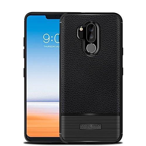 (CruzerLite LG G7 Case, LG G7 ThinQ Case, Carbon Fiber Shock Absorption Slim Flexible Case for LG G7/LG G7 ThinQ (Black))