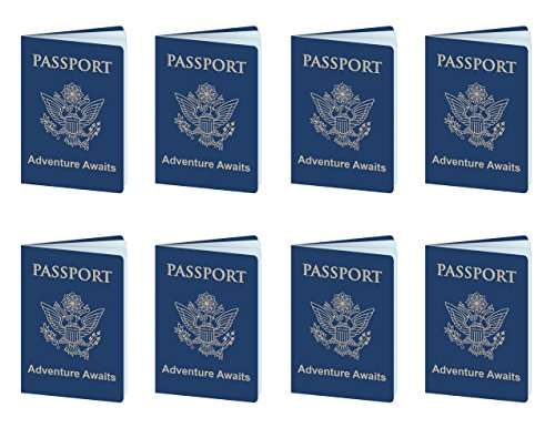 Beistle 54794 passports Blue/Gold/White ()