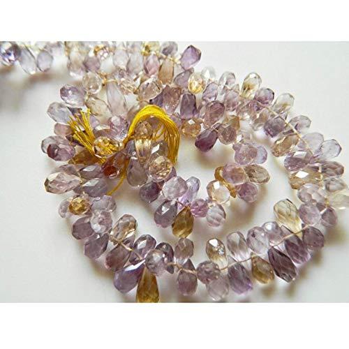 Super Quality Gemstone Beautiful Jewelry Ametrine Beads, Faceted Beads, Tear Drop Beads, 5x10mm Each - 15 Inch Strand Code-JP-3372   B07KVTYKPN