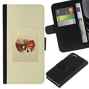 LECELL--Cuero de la tarjeta la carpeta del tirón Smartphone Slots Protección Holder For Apple Iphone 6 -- Montañas del lobo --