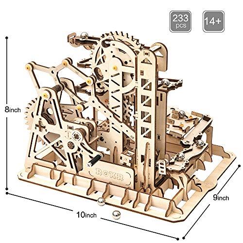 ROKR 3D Wooden Puzzle-Mechanical Model-Wooden Craft Kit-DIY Assembly Toy-Mechanical Gears Set-Brain Teaser Games-Best…