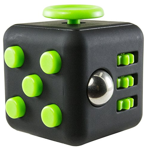 Fidget Cube - Fidget Box - Relieves Stress And Anxiety for Children and Adults - ADHD Toy (Black and - Hot Free Por