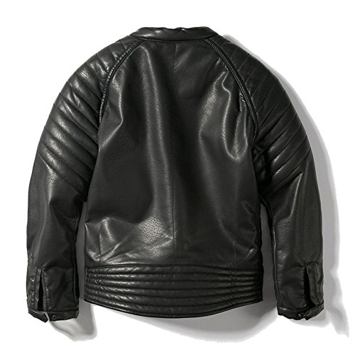 ljyh boys leather jacket childrens collar motorcycle