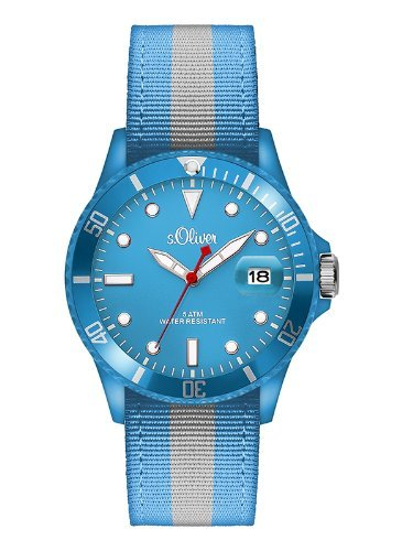 s.Oliver Men's Quartz Watch SO-2690-LQ with Textile Strap