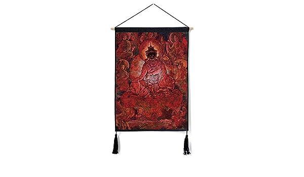 mmzki Viento Nacional algodón y Lino Pintura Guirnalda tibetana Pintura Decorativa U 46 * 65 cm: Amazon.es: Hogar