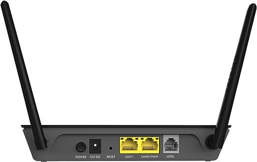 Netgear D1500-100PES - Módem Router con tecnología WiFi N300 (2 Puertos Ethernet 10/100 y Antenas externas)