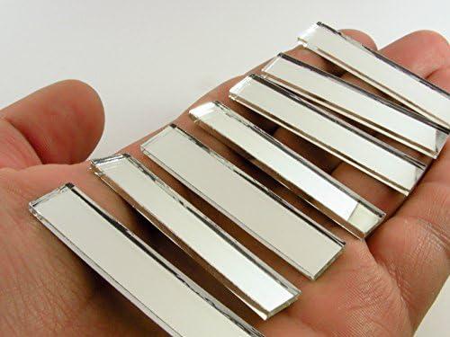 長方形 3/8インチ x 2インチ ミラーモザイクタイル。 50個
