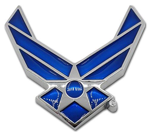 Car Auto Wing - Mitchell Proffitt USAF Air Force METAL Blue Wing Auto Premium Emblem