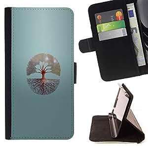 Momo Phone Case / Flip Funda de Cuero Case Cover - Árbol de la vida;;;;;;;; - Sony Xperia Z1 Compact D5503