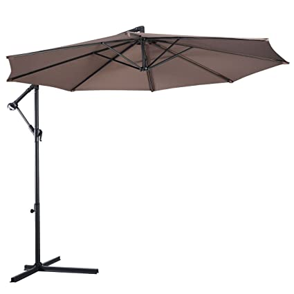 Globe House Products GHP Outdoor 8' Tan Water-Proof Polyester Portable  Hanging Offset Patio - Amazon.com : Globe House Products GHP Outdoor 8' Tan Water-Proof