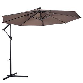 Amazon Com 10 Ft Hanging Umbrella Patio Sun Shade Offset Outdoor