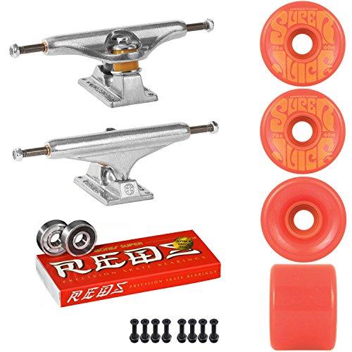 利得研究リングスケートボードキットIndy 159 Trucks OJスーパージュース60 mm 78 a WheelsレッドSuper Reds