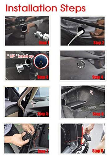 Sonmer Car Reversing Parking Radar Sensor, With 4 Sensors Audio Buzzer Sound Alarm (Gold) by Sonmer (Image #4)