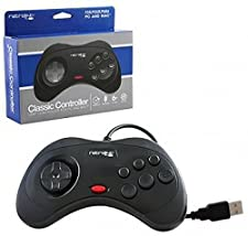 Retro-Bit Retrolink USB SEGA Saturn Classic Controller Mac/PC Compatible– Black