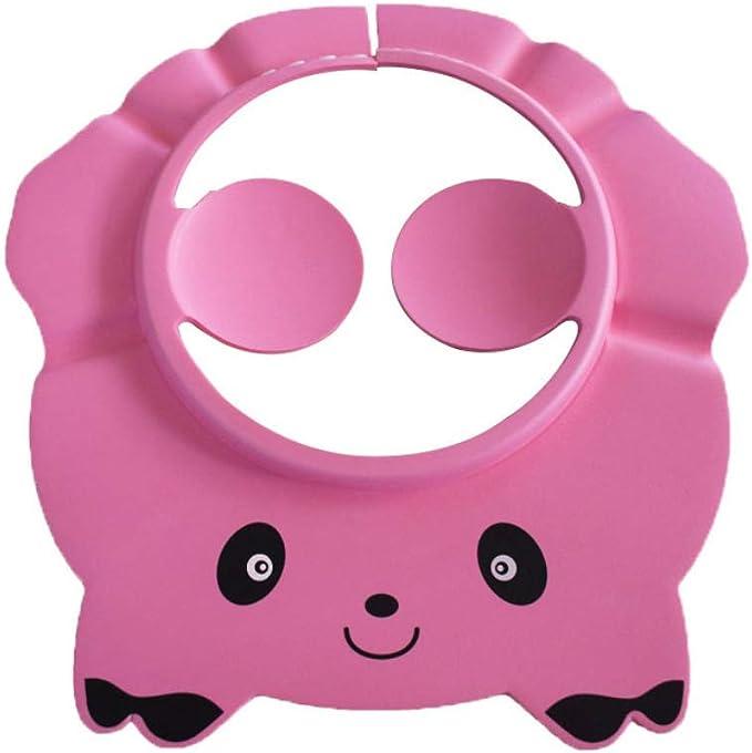 Dontdo Gorro de baño con diseño de panda de dibujos animados rosa ...