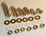 Solid BRASS/NYLON Non-Magnetic Turntable Headshell Cartridge Screw Set 30 Piece