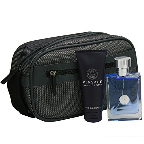 Pour Homme Natural Spray - Versace Pour Homme Cologne Gift Set for Men 3.4 oz Eau De Toilette Spray