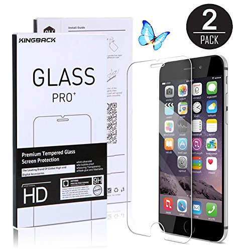 Tempered Glass Screen Protector for iPhone 6 Plus - 2