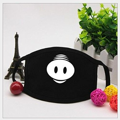 Wen XinRong Mouth Mask Face Mask for Men and Women, Anti-dust Cotton Mouth Cover Black Fashion Mouth Face Mask for Running Cycling